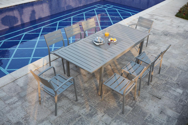 Table de jardin extensible en aluminium Mezzane 8 - Concept Usine