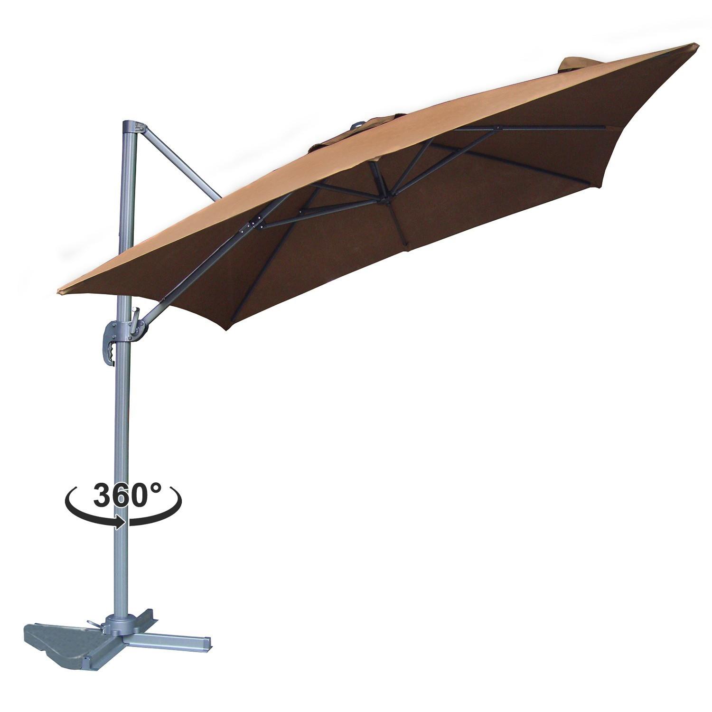 Parasol d port rotatif inclinable cesare 3x4m terracotta Parasol deporte rectangulaire 3x4m