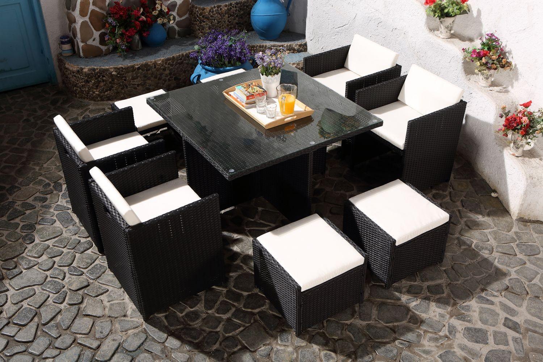 awesome salon de jardin noir et blanc pictures awesome. Black Bedroom Furniture Sets. Home Design Ideas