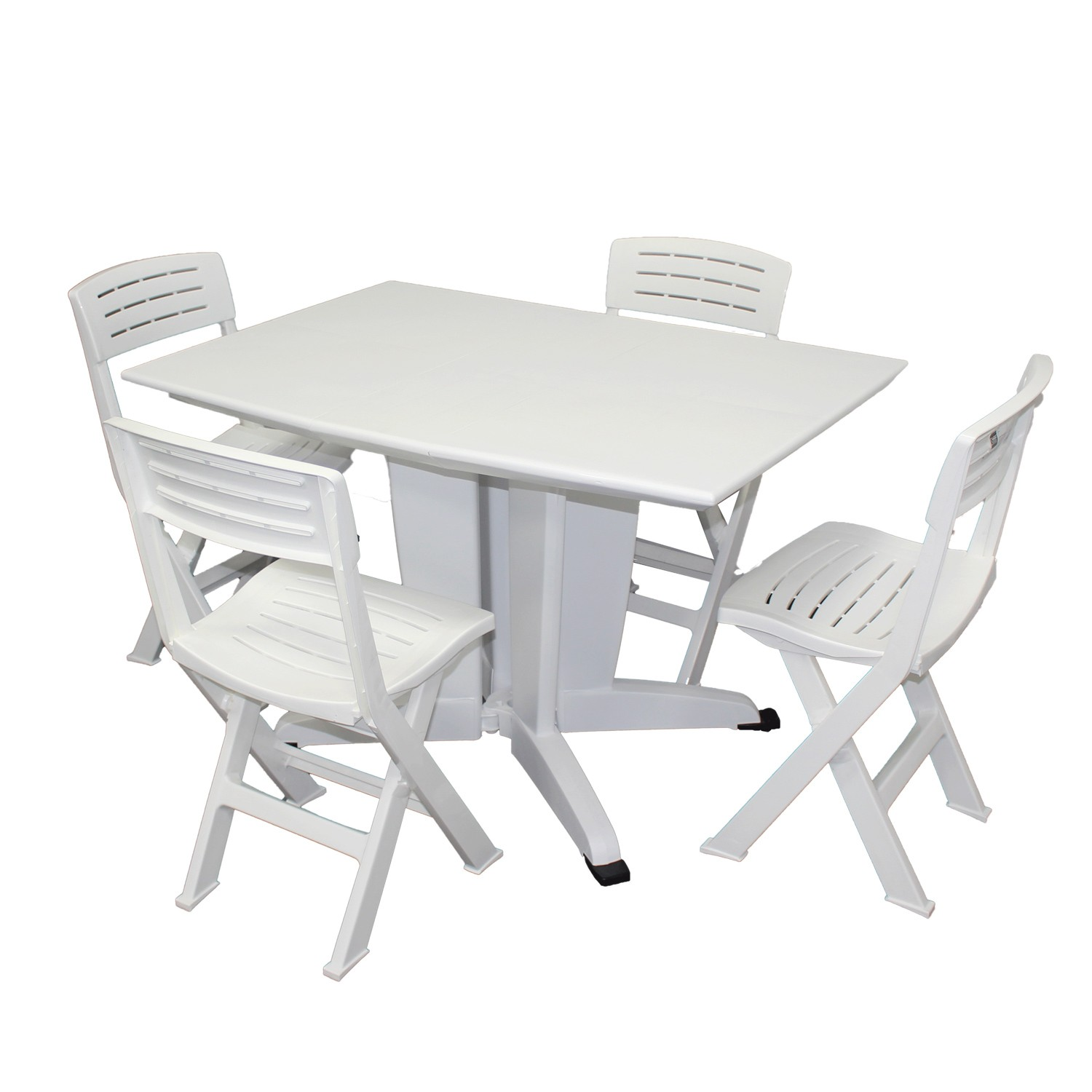 Emejing table de jardin pliante blanc images awesome for Table salle a manger jardin d ulysse