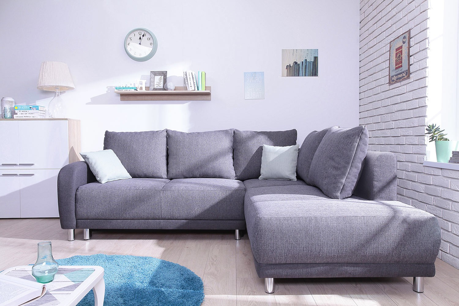 minty grand angle droit canap convertible scandinave bobochic bicolore gris anthracite - Canape Angle Gris Anthracite