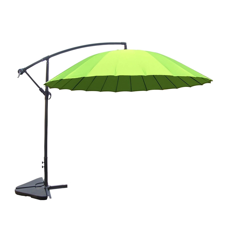 Tokyo vert : parasol déporté et inclinable rond Ø3m