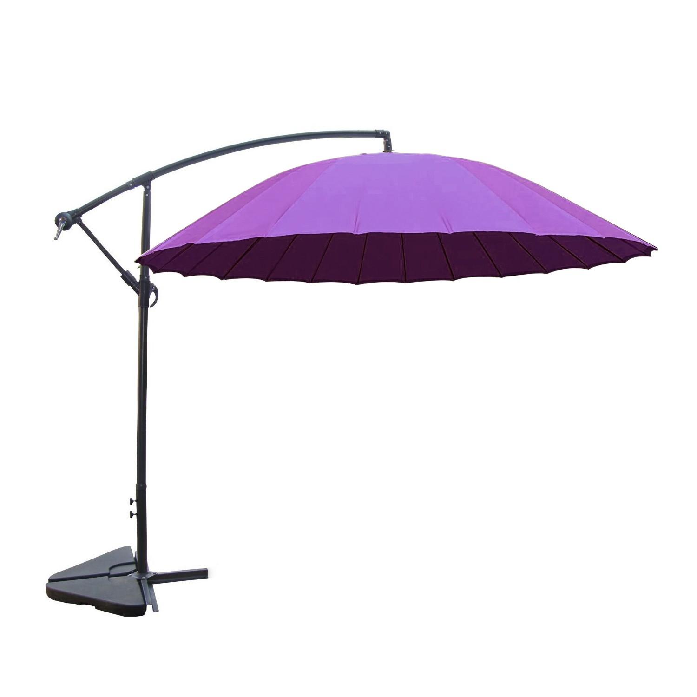 Tokyo violet : parasol déporté et inclinable rond Ø3m