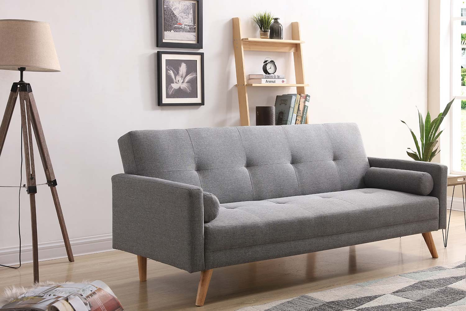 Vanso : canapé scandinave convertible 3 places gris