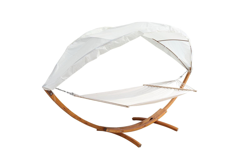 santa fe cru hamac bois sur support avec auvent 4 15 m. Black Bedroom Furniture Sets. Home Design Ideas