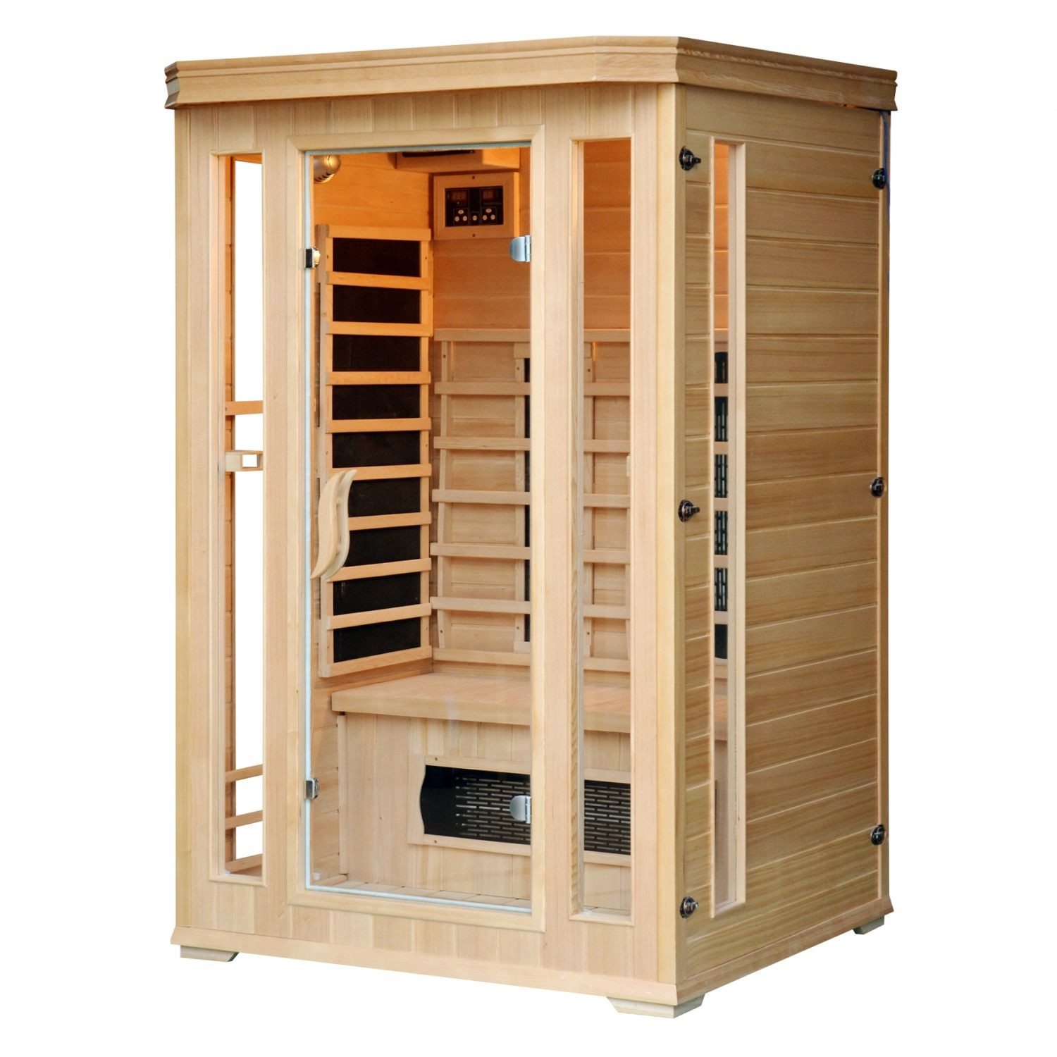 horten sauna 2 places technologie infrarouge saunas. Black Bedroom Furniture Sets. Home Design Ideas