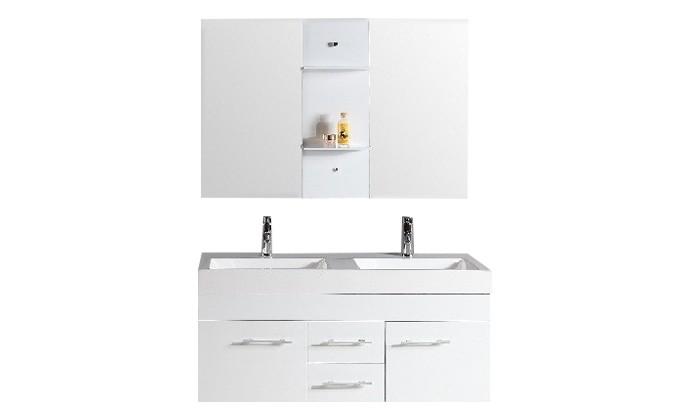 Pengla - ensemble : meuble, 2 vasques, 2 miroirs pour salle de ...