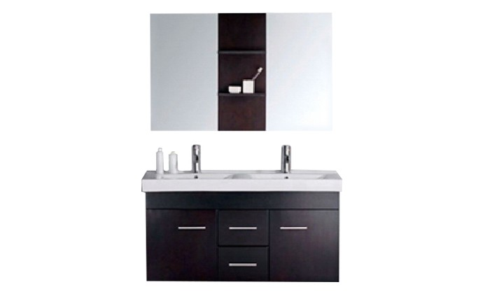 Pengla - ensemble : meuble, 2 vasques, 2 miroirs pour salle de bain ...
