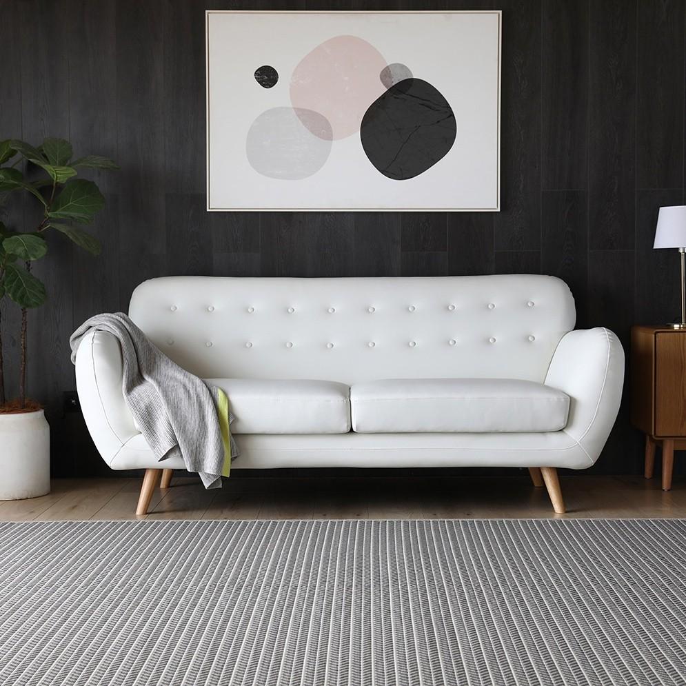 Canapé en cuir reconstitué Helsinki