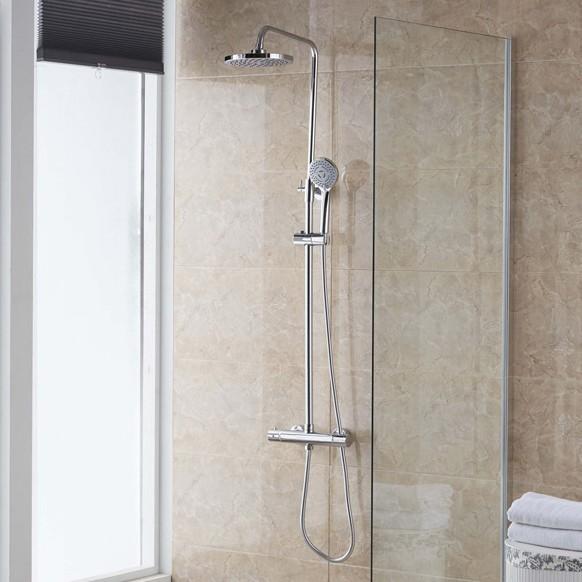 Naomi colonne de douche thermostatique 39 ronde 39 colonnes de douche salle de bain - Colonne bain douche thermostatique ...