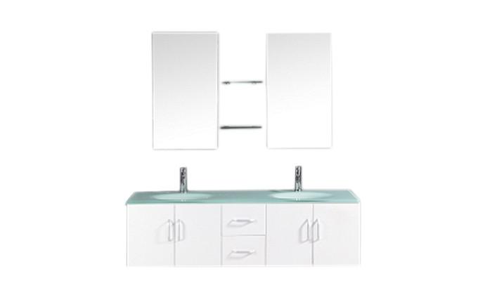 Daya - ensembles meuble +2 vasques + 2 miroirs pour salle de bain ...