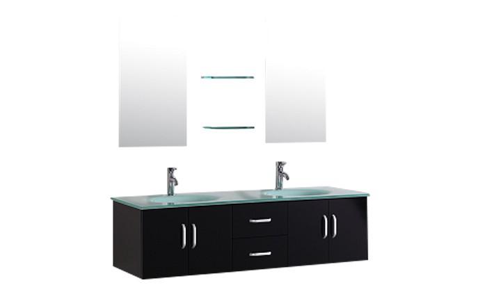 Daya - ensemble de meuble +2 vasques + 2 miroirs pour salle de bain ...