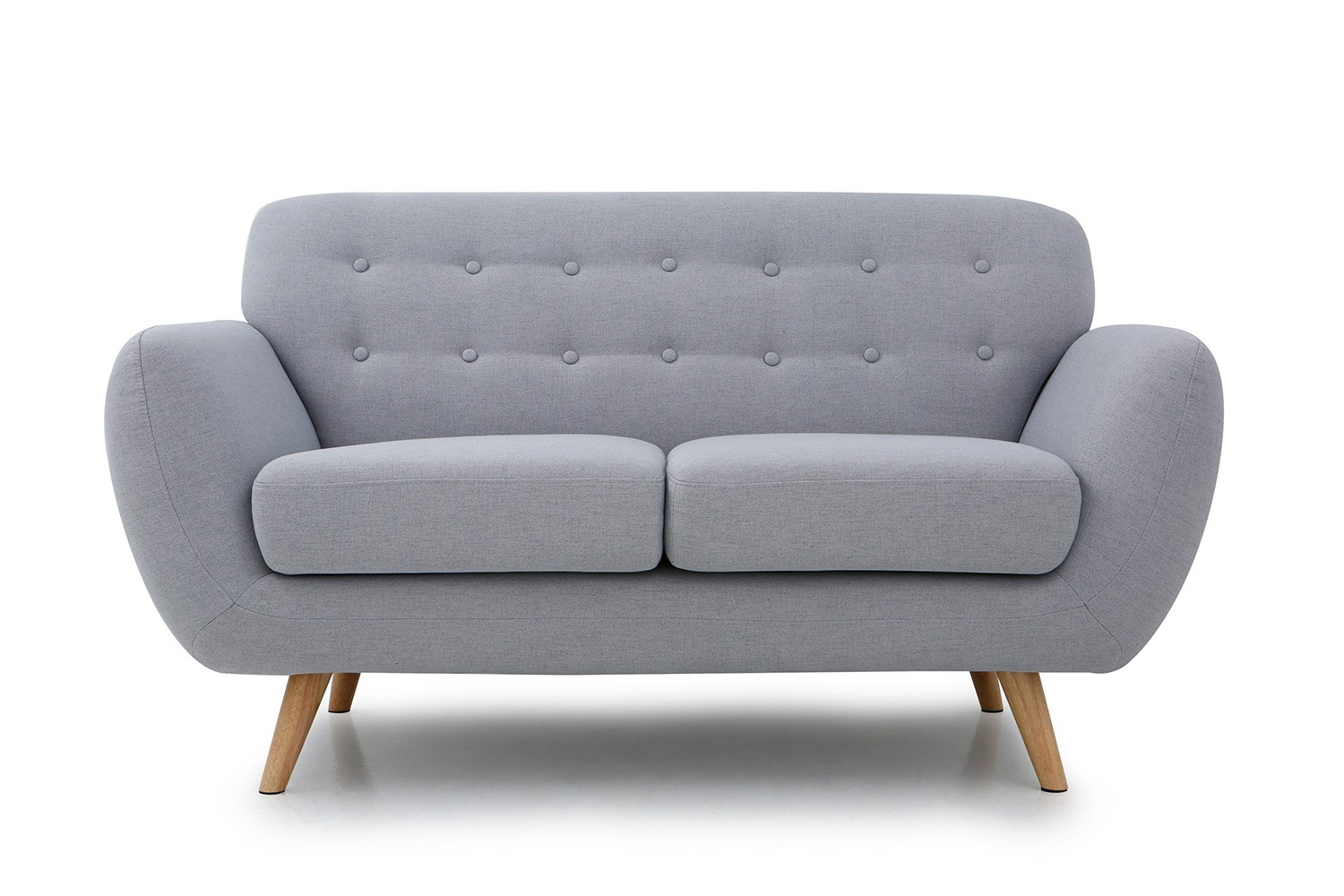 Oslo 2p canap scandinave 2 places gris clair canap s for Canape 9 10 places