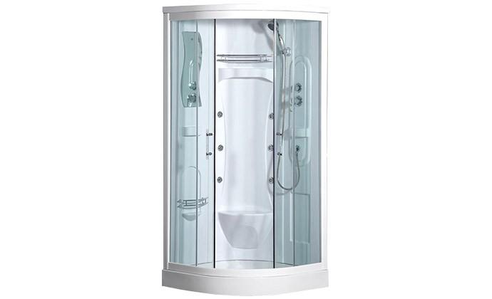 cogo douche baln o d 39 angle avec 6 jets massant et assise douches baln o old salle de bain. Black Bedroom Furniture Sets. Home Design Ideas