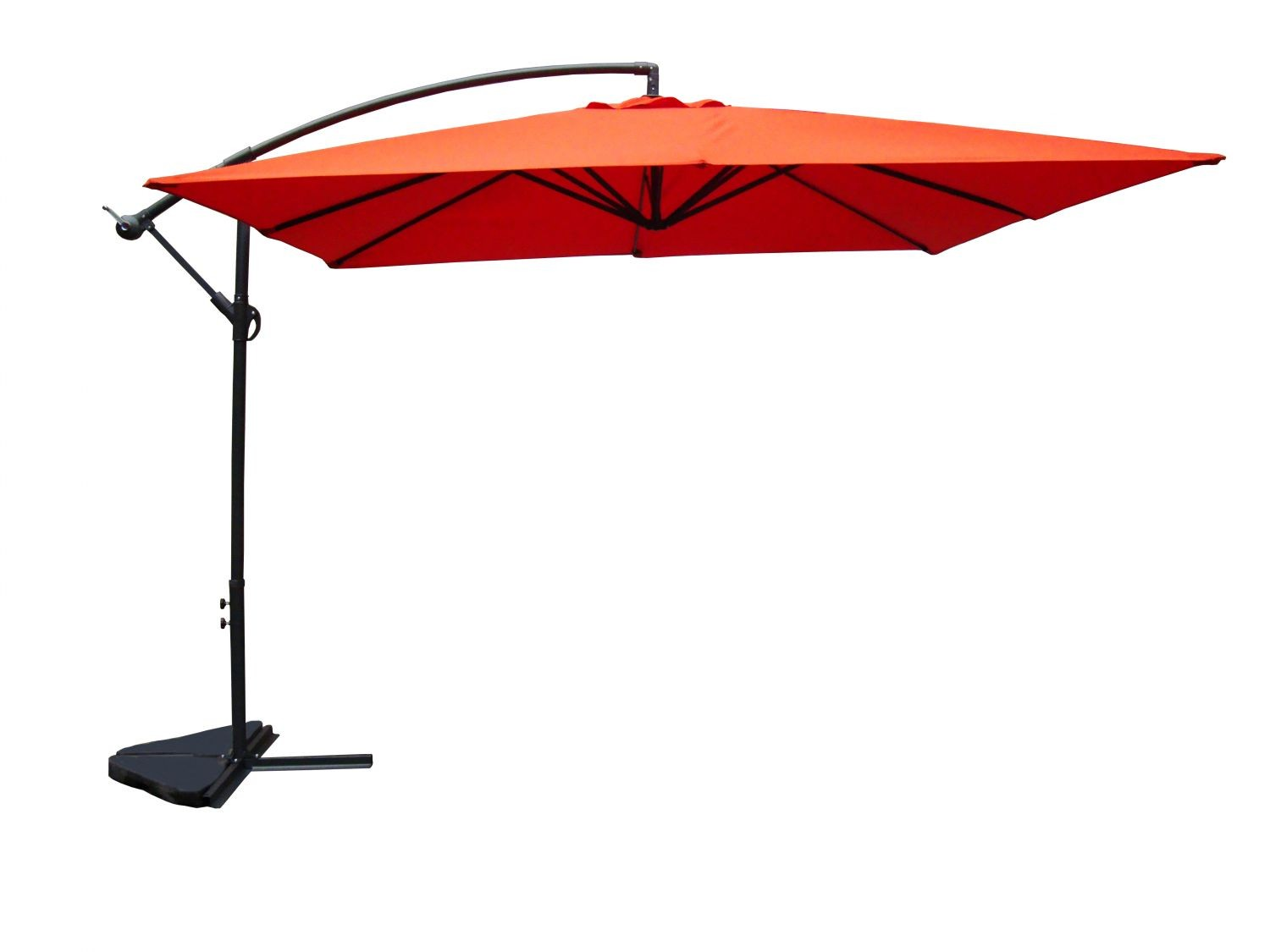 umloti terracotta parasol d port 3x3 m. Black Bedroom Furniture Sets. Home Design Ideas
