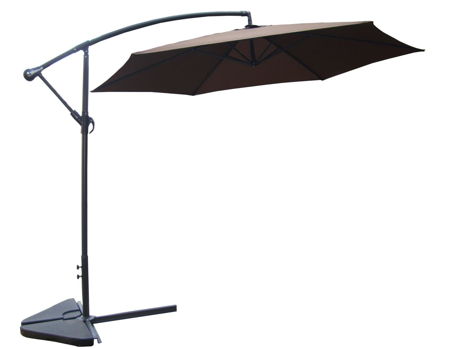 kelso chocolat parasol d port 3 m parasols parasols et chauffage d 39 ext rieur. Black Bedroom Furniture Sets. Home Design Ideas