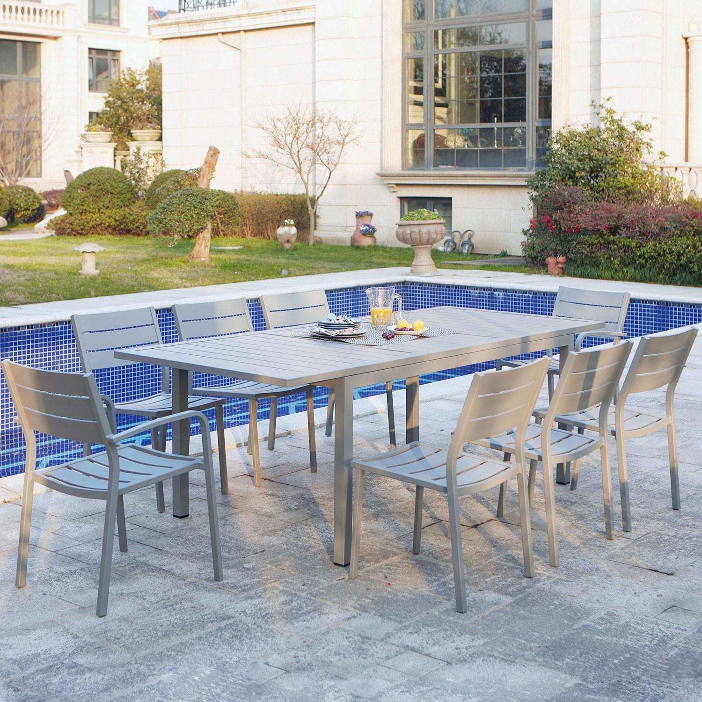 Ragazza : table de jardin extensible en aluminium 8 places