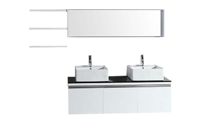 Oggia - ensemble meuble +2 vasques + 2 miroirs pour salle de bain ...