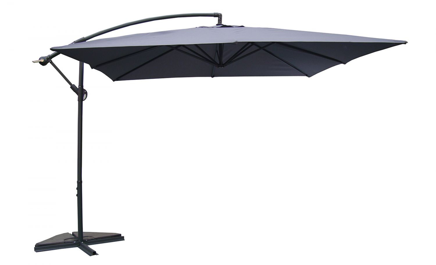 umloti gris parasol d port 3x3 m parasols parasols. Black Bedroom Furniture Sets. Home Design Ideas