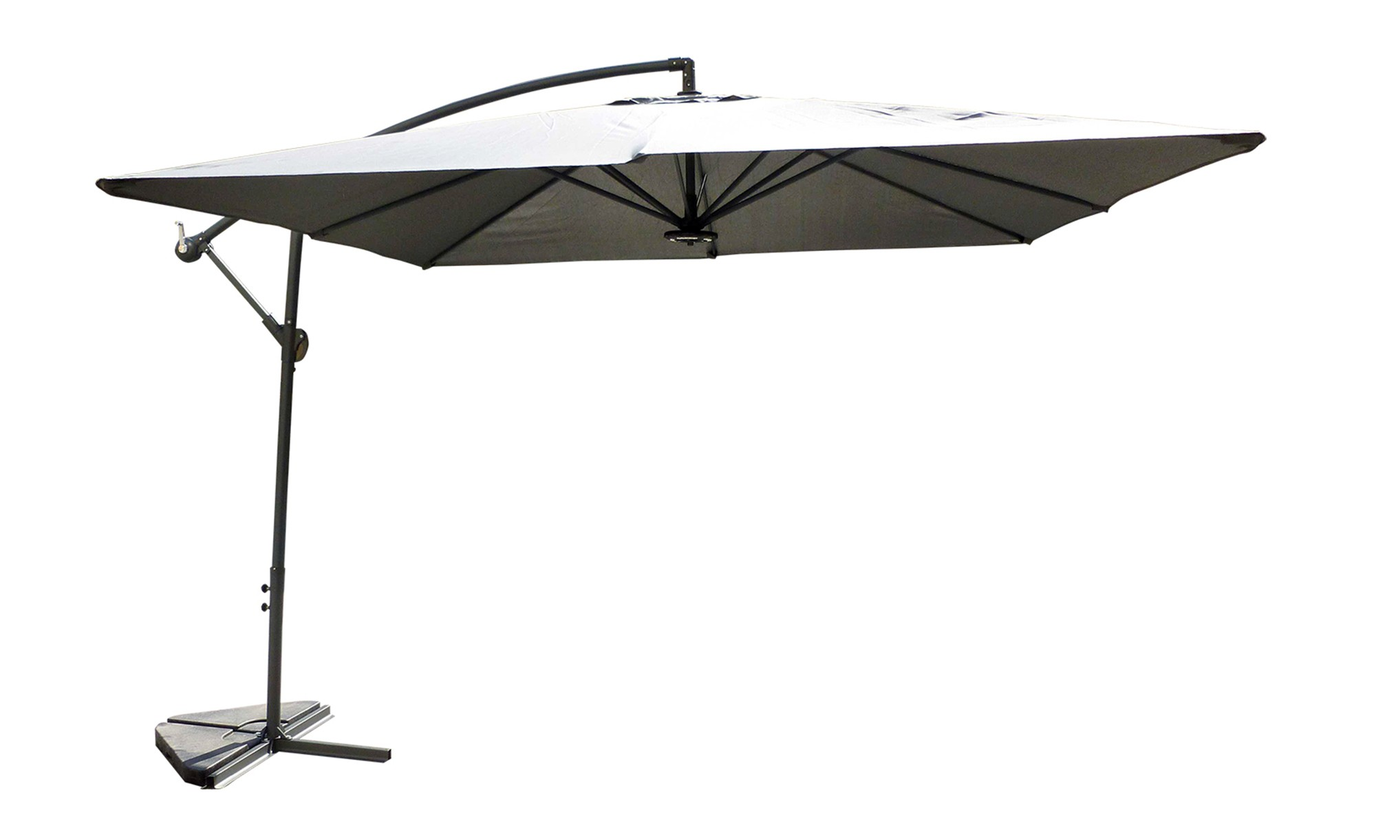 hendaye gris parasol led d port 3x3m parasols. Black Bedroom Furniture Sets. Home Design Ideas