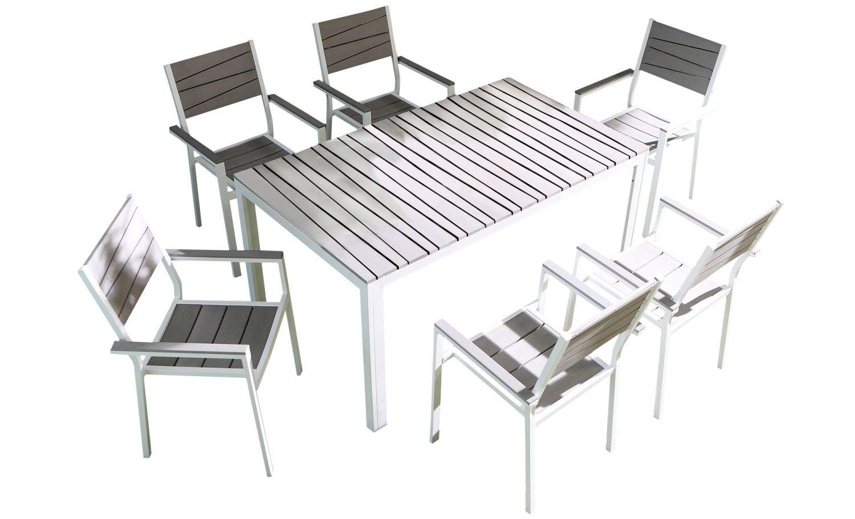 Cusco 6 places - Ensemble de jardin aluminium et polywood ...