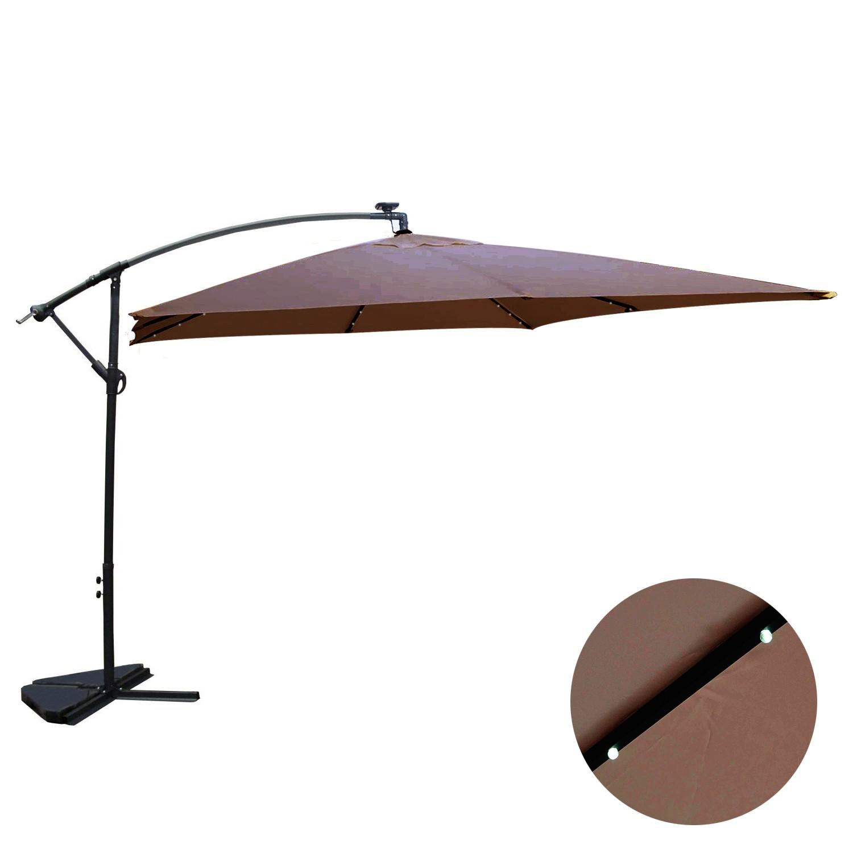 Corbara Bulle chocolat : parasol LED solaire déporté 3x3m
