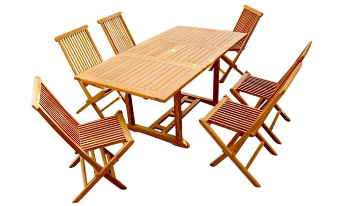 Garang 6 8 Ensemble De Jardin Teck Table Rectangle 6 Chaises