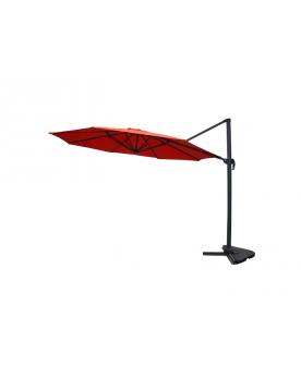 Ballito terracotta - Parasol déporté rotatif Ø3,5 m