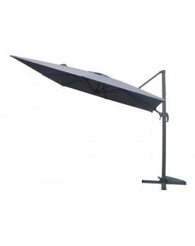 Gonubie gris - Parasol déporté rotatif 3x3 m