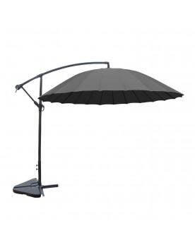 Tokyo gris : parasol déporté et inclinable rond Ø3m