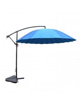 Tokyo bleu : parasol déporté et inclinable rond Ø3m