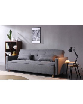 Glascow : canapé scandinave convertible 3 places gris
