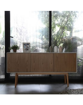 Buffet enfilade scandinave bois naturel