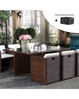 Salons de jardin en résine tressée : salons détente & repas...