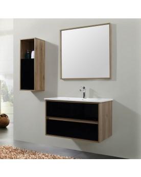 Worth Ensemble de meubles de salle de bain verre trempé
