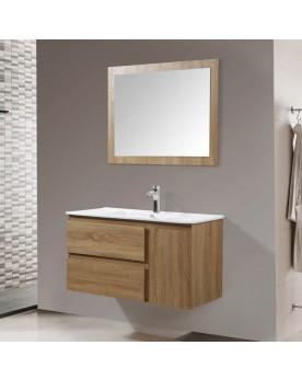 Tahia couleur bois ensemble de salle de bain