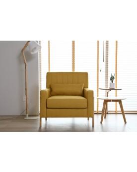 Koll jaune : fauteuil scandinave jaune