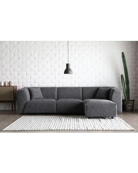 Coney gris foncé/gris clair : canapé modulable 3 places + 1 pour gris foncé/gris clair