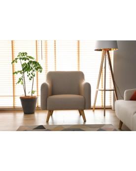 Praze beige : fauteuil scandinave beige