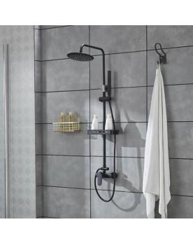 Cora Colonne de douche mitigeur ronde noire