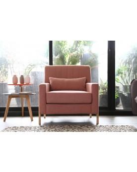 Koll rose : fauteuil scandinave rose
