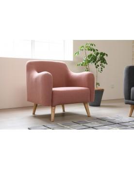 Praze rose : fauteuil scandinave rose