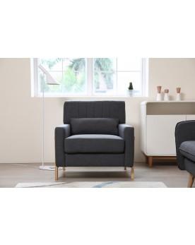 Koll gris foncé : fauteuil scandinave gris foncé