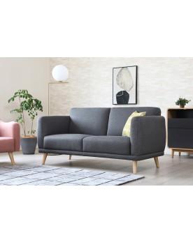 Vilona gris foncé : canapé scandinave 3 places gris foncé