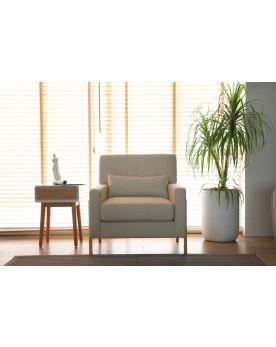 Koll beige : fauteuil scandinave beige