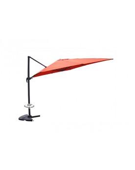 Gonubie terracotta - Parasol déporté rotatif 3x3 m