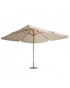 Sanaa écru - Parasol bois 3 x 3 m