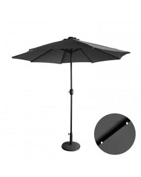 Luminia Bulle gris : parasol LED solaire droit et rond Ø270 cm
