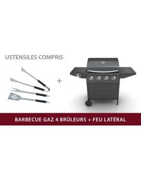 Phébus - Barbecue gaz 4 + 1 brûleurs avec ustensiles
