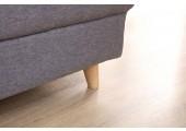 Canapé d'angle convertible gris